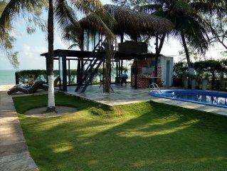 Beira-mar, casa com 3 quartos em Serrambi - 2 suites