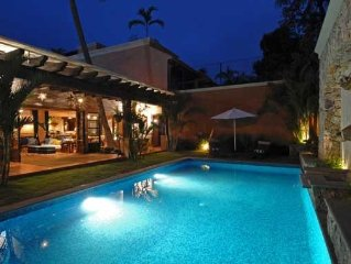Chic Villa Oasis with Pool, Cook & Maid, Steps to Beach
