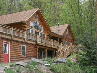 Luxurious Log Cabin in Woods on Keuka Lake w Prvt Dock & Lake Front