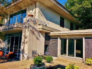 Frank Lloyd Wright Inspired Paradise on Lake and 55 Acres