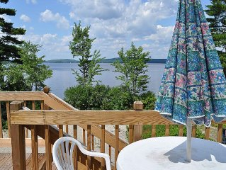 Vacation Lodge on a  beautiful 200 ft. private sand beach on Molasses Pond