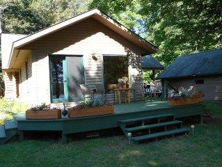 U.P. Off-the-Beaten-Track Log Cabin on Private, Pristine, 70 Acre, No-Wake Lake