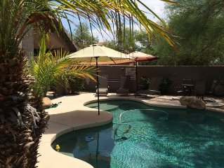 Beautiful N.E. Phoenix/Scottsdale Desert Ridge Golf/Pool Vacation Home