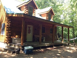 New Log Cabin on 3 Wooded Acres, Out Door Shower, Loft, Near Dunes Lake Michigan
