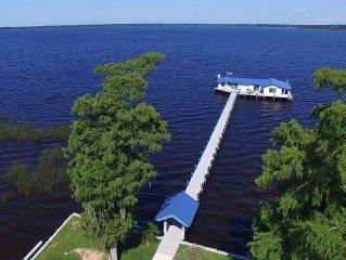 Tahiti Style Overwater Bungalow  * Lake House Blue *  GREAT VIEWS + Video Tour