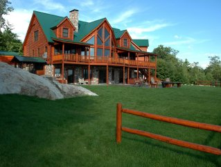 70 Acres -Log Lodge  Secluded in Mountains with Extreme Mountain Views