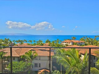 Panoramic Ocean Views! - Wailea Beach Villas - Luxury 3 Bed / 3 Bath