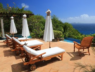 Mustique Quality Villa On Private Hope Bay. Infinity Salt Pool. Elegant Furnish