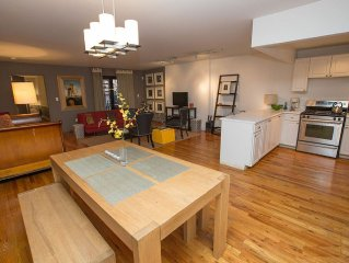 Spacious Quiet Garden Apartment in Private Harlem Townhouse