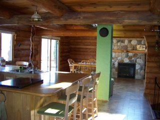 Private Log Lodge Nestled In Chippewa National Forest On Secluded Lake.