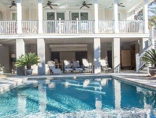 Beautiful Home: ELEVATOR, Pool, Hot Tub, Pool & Foosball, Short Walk to Beach!