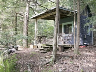 'A Place in the Woods' - Cabin on Chloe's Lake on 20 acres near Woodstock, NY