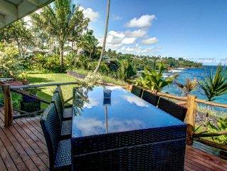Oceanfront Promontory w/ Stunning Views & Luxury Accommodations.  Walk to Beach!