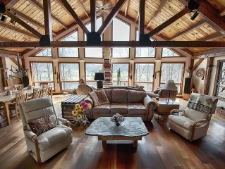 Spectacular Spirit Dancer Lodge:Large,Rustic,Luxurious on 60 private acres!