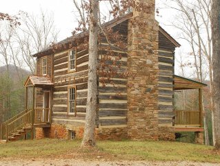 Historic cabin with beautiful view of the Blue Ridge Mountains.