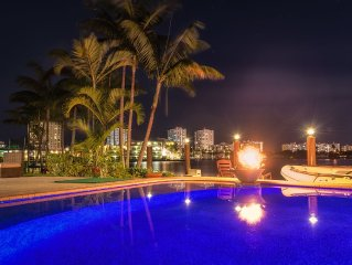 5br/4b Stunning Waterfront Pool/Beach Home