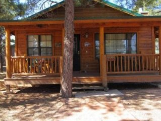 Very nice quiet cabin in the pines includes WIFI, and many free extras