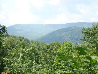 2br/1ba Mountaintop Cottage with Superlative Views: Woods, Waterfalls, Trails