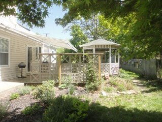 Historic 1830 Captain's home garden wing, huge private garden, walk to all!