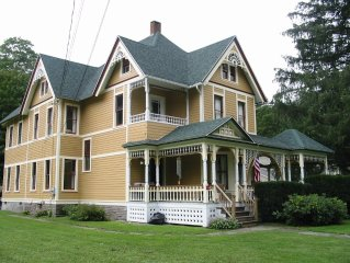 Catskills Victorian With Fireplace & Mountain Views for skiing, fishing & hiking