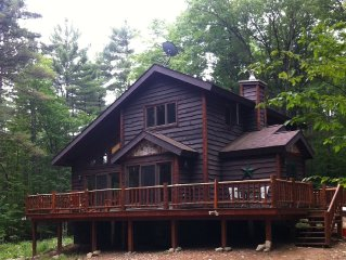 Bright cabin retreat happily situated 7 miles from Whiteface Mt