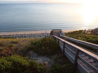 Bird's Eye View Of Cape Cod Bay.  Waterfront Home With Private Beach.