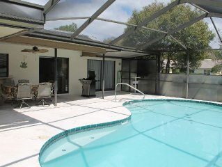 Screened Pool Home Close to Local Attractions