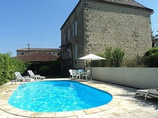 Large House With Garden, Private Pool In Typical French Village Setting