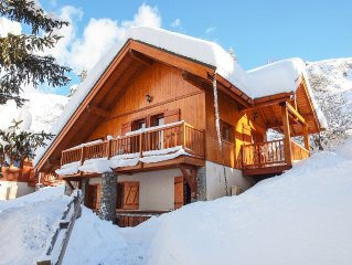 Superb Ski Chalet In Alpe D'Huez / Oz-En-Oisans Resort