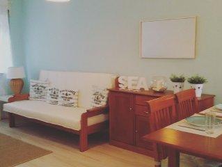 Apartamento totalmente remodelado a 100 mts da Praia