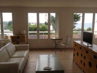 Bel appartement de famille, vue sur mer