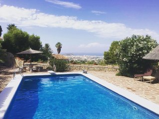 Luxury 5 bed villa with stunning views with Private pool and tennis court