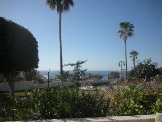 Prime Position - Centre Of Los Gigantes, front line 2 Private Pools, Sea Views