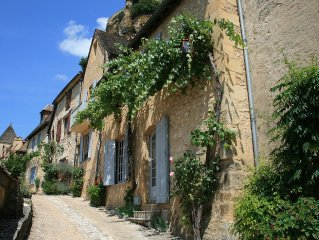 In the Heart of Beynac Village with Spectacular Castle and River Views