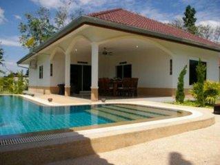 Thailande , villa 3 chambres, 3 salles de bain avec piscine privée