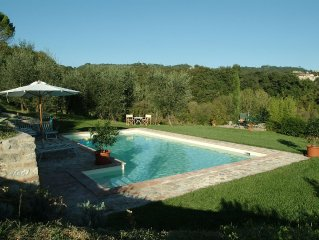 South Tuscany on border to Umbria, heated pool, upto 8 guests, great views