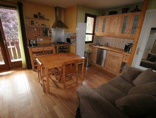 Grand studio pour 4 pers. au bord du lac d'Annecy. Navette gratuite station ski