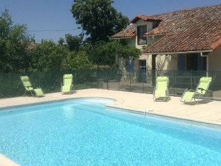 Gite With Private Pool Set In A Rural Hamlet With Views Of The Countryside