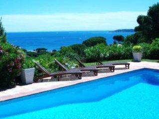 Sainte-Maxime: beautiful Villa with Spa, swimming pool and amizing view of gulf