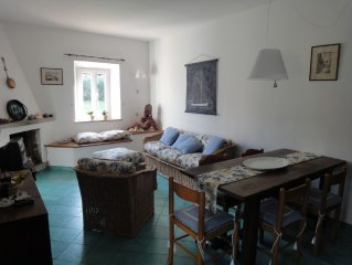 Charming property in village centre,beach 250m, garden,ample parking,sleeps 8/10