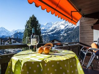 Appealing 2 bedroom accommodation just 160m from the ski piste with lovely views