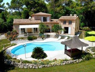 Villa aux prestations de qualite 180m2; proche Cannes-Antibes-Nice, et 4 golfs