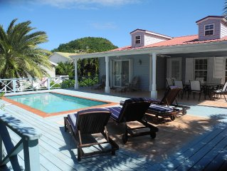 Modern Antiguan Villa Set In Tropical Garden.