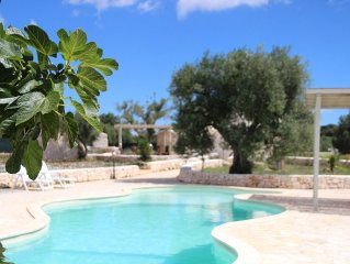 Private Pool, Restructured Original Trulli, Terrasses, BBQ, in own Olive grounds