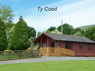 Attractive Timber Chalet In The Upper Tanat Valley. Sleeps 4.
