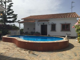 Holiday villa for rent in 'La Sirena', Benajarafe Malaga, at 100m from the beach