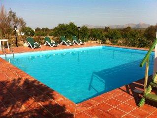 Casa rural con piscina cerca de la playa de Can Picafort - WIFI