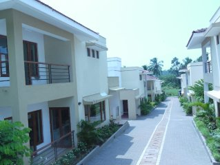 Beautiful contemporary villa in a rural setting with shared pool in Candolim