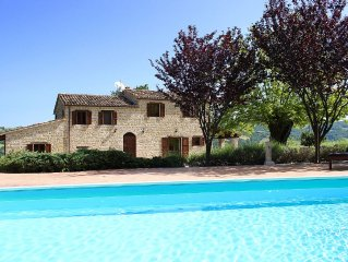 Family farmhouse with pool in beautiful countryside close to Sarnano village
