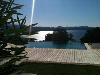 Villa sur 8000m2 vue imprenable golfe de st Florent piscine à débordemen